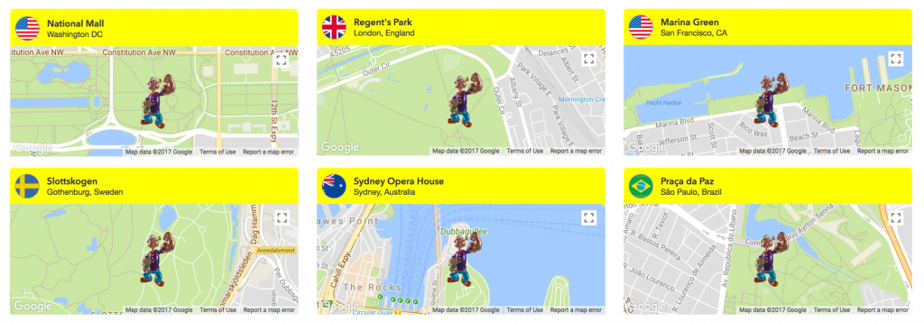 Popeye x Jeff Koons x Snapchat locations